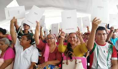 Garantiza Insus certeza jurídica sobre la tenencia del suelo a más de 47 mil personas