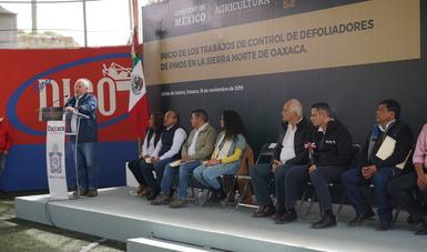 Supervisan titular de Agricultura y gobernador de Oaxaca combate a plagas forestales en los bosques de la entidad