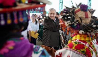 En Mezquitic, presidente López Obrador ofrece apoyo para solución de conflictos agrarios