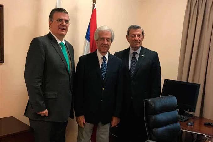 El canciller Marcelo Ebrard Casaubon se reúne con su homólogo de la República Oriental de Uruguay, Rodolfo Nin Novoa