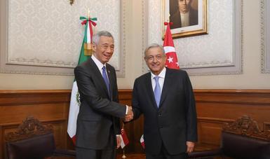 Presidente López Obrador recibe visita oficial del primer ministro de Singapur, Lee Hsien Loong