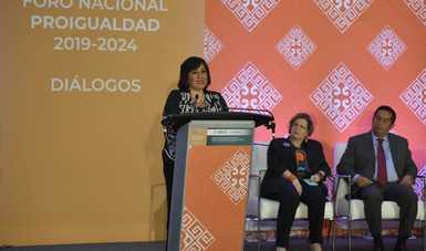 Anuncia la secretaria Irma Eréndira Sandoval compromisos de la Función Pública en el Programa Nacional para la Igualdad