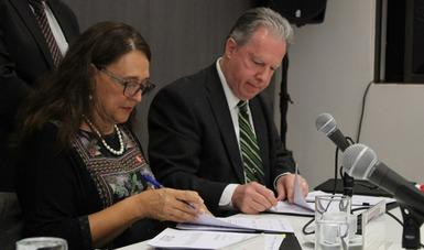 Firma convenio de colaboración INAFED e INECC en materia de cambio climático