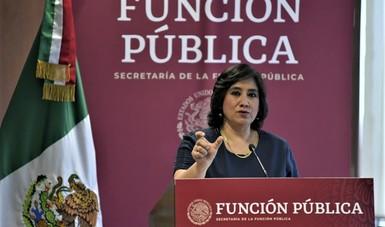 Presenta la secretaria Irma Eréndira Sandoval logros del combate a la corrupción y de la austeridad republicana