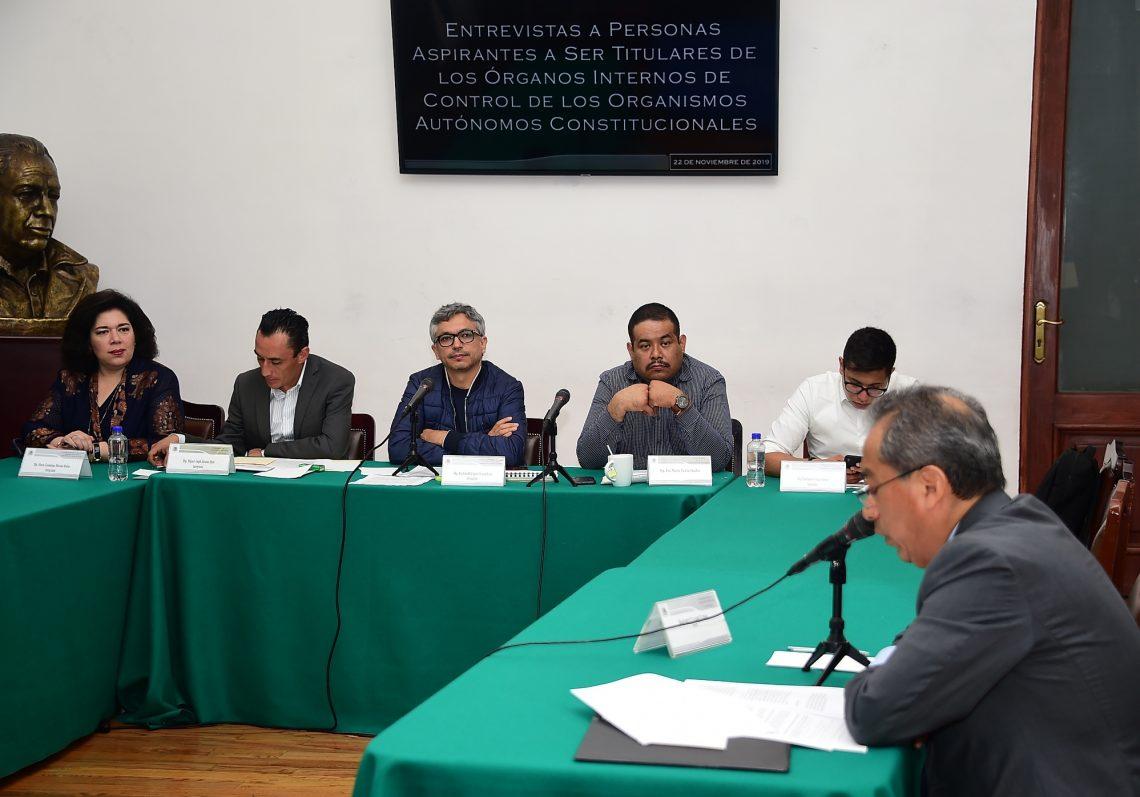 El Congreso local entrevistó aspirantes a dirigir el órgano de control del Instituto Electoral de la CDMX