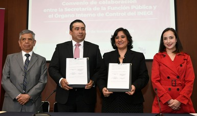 Función Pública y Órgano Interno de Control del INEGI colaboran para prevenir y sancionar corrupción