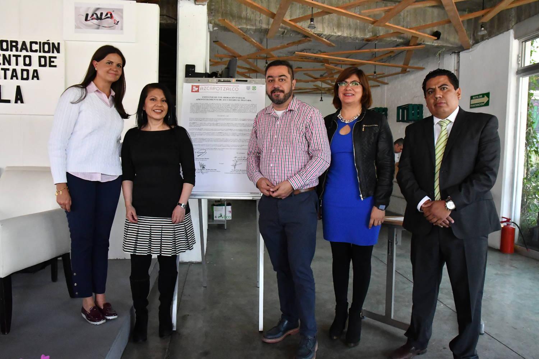 La alcaldía de Azcapotzalco y la empresa LALA firman convenio de colaboración para el aprovechamiento de agua residual tratada.