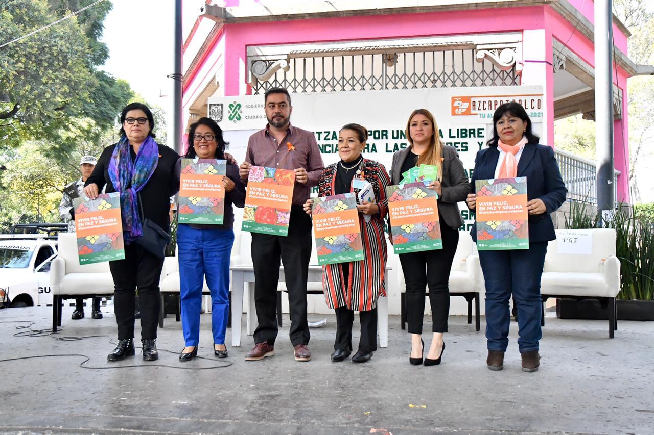 La alcaldía de Azcapotzalco conmemora el Día Internacional de la Eliminación de la Violencia contra las Mujeres con 16  días de activismo