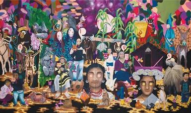Artistas indígenas de la meseta purépecha exhiben sus obras en el Centro Cultural Clavijero