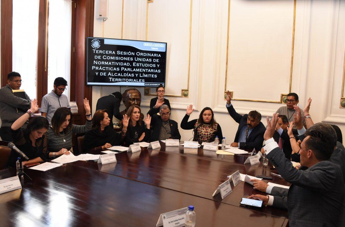 Diputados capitalinos aprobaron en comisiones seis iniciativas con modificaciones a la Ley Orgánica de Alcaldías