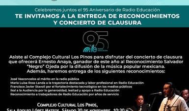 Radio Educación celebrará sus 95 años en Los Pinos