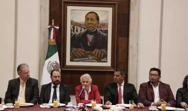 Refrenda secretaria de Gobernación, Olga Sánchez Cordero, compromiso de diálogo respetuoso, permanente y fluido con congresos estatales