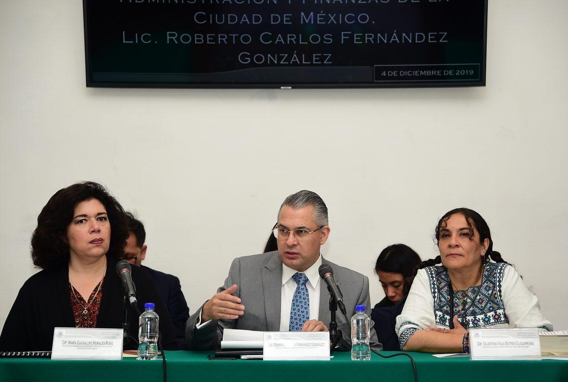 Tesorero de la CDMX explicó a diputados ajustes tributarios y el no incremento en impuestos y servicios para 2020