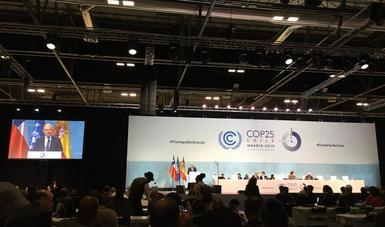 México participa en la 25 Conferencia de las Partes sobre Cambio Climático