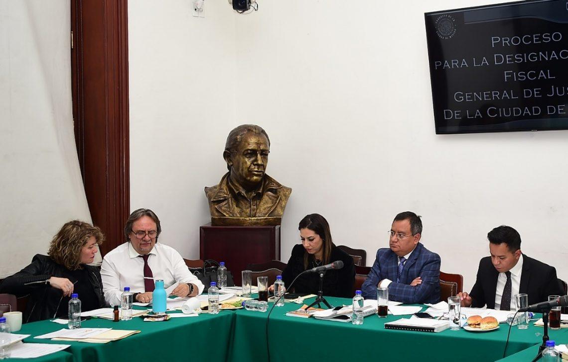 La Comisión de Administración y Procuración de Justicia del Congreso local entrevistó a la terna de aspirantes a la Fiscalía General de Justicia