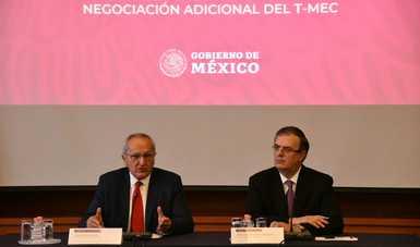 Canciller Ebrard y subsecretario Seade presentan detalles del Protocolo Modificatorio del T-MEC