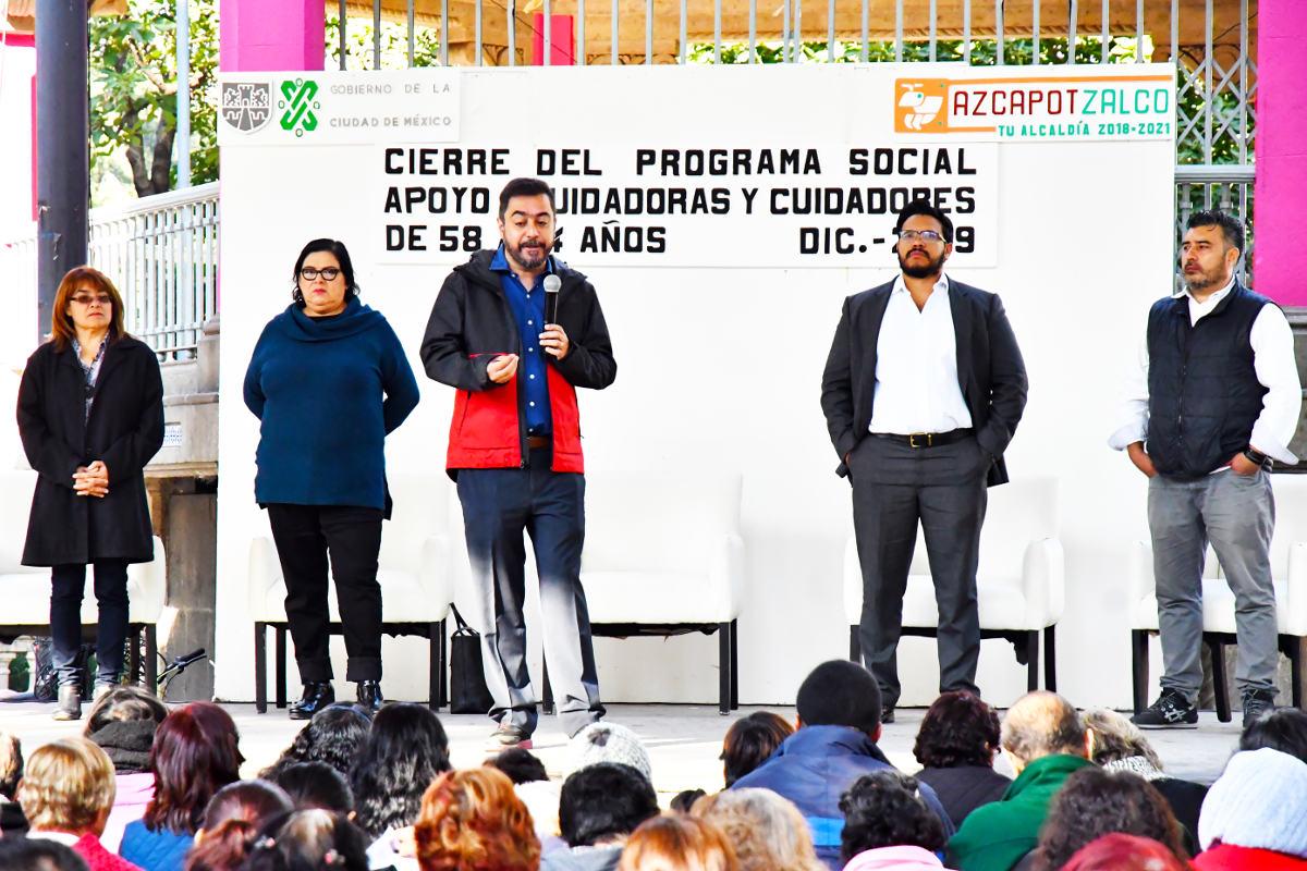 Programa de apoyo a Cuidadoras y Cuidadores cierra 2019 beneficiando a cientos de familias de Azcapotzalco