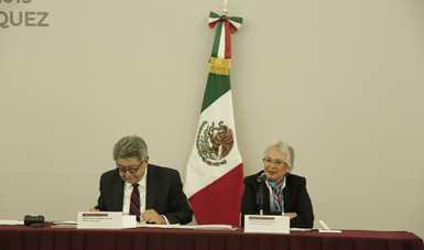 Recibe secretaria de Gobernación Informe Anual de Actividades del Tribunal Federal de Conciliación y Arbitraje