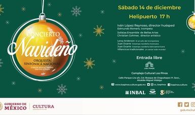 Llega la Navidad al Complejo Cultural Los Pinos con un concierto de la Sinfónica Nacional y los Solistas Ensamble