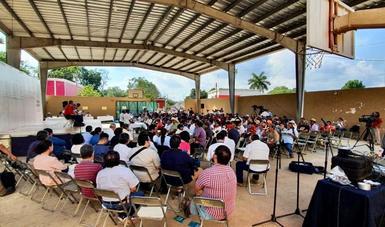 Concluye primer día de consulta a comunidades del sureste sobre Tren Maya