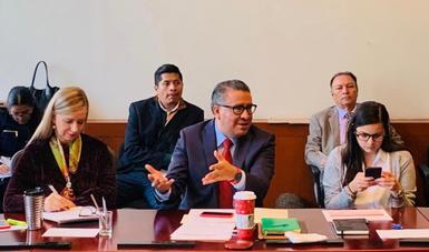 Coordina Horacio Duarte avances del Grupo de Trabajo de la Comisión Intersecretarial Migratoria