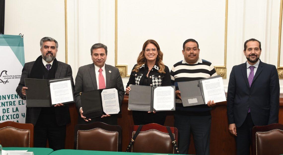 El Congreso capitalino firmó convenio de colaboración con el IECM para difundir la nueva Ley de Participación Ciudadana
