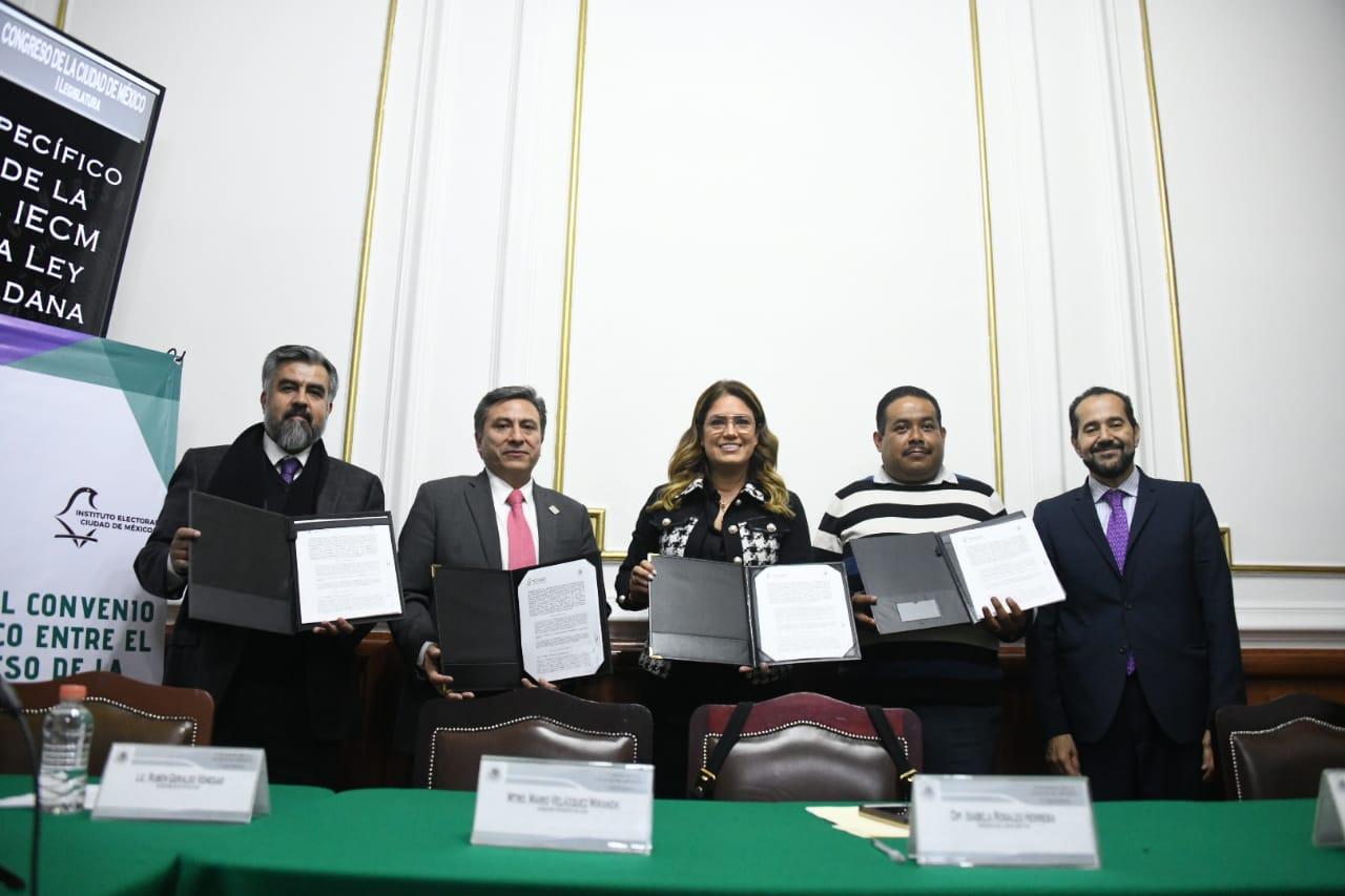 Suman esfuerzos IECM y Congreso capitalino para difundir nueva Ley de Participación Ciudadana local
