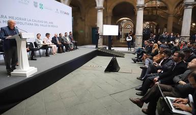 La Comisión Ambiental de la Megalópolis anuncia medidas para mejorar la calidad del aire en la Zona Metropolitana del Valle de México