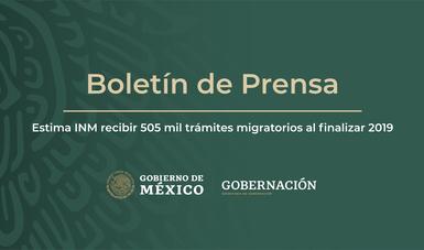 Estima INM recibir 505 mil trámites migratorios al finalizar 2019