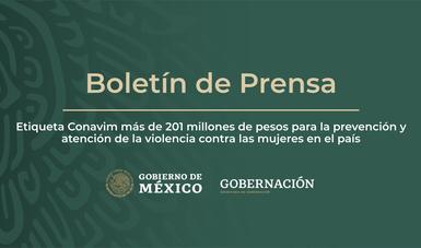 Etiqueta Conavim más de 201 millones de pesos para la prevención y atención de la violencia contra las mujeres en el país