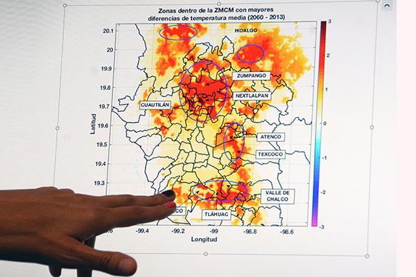 Por crecimiento urbano, para 2060 podría aumentar hasta tres grados la temperatura en la ZMVM