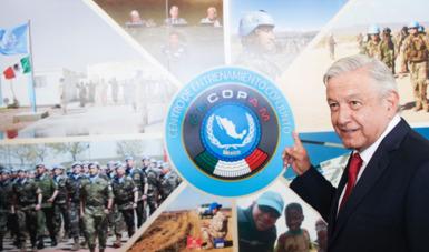 Presidente inaugura Centro de Entrenamiento Conjunto de Operaciones de Mantenimiento de la Paz en México