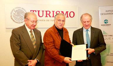 Firman convenio Sectur y Bancomext para fortalecer al turismo y contribuir al desarrollo nacional y regional