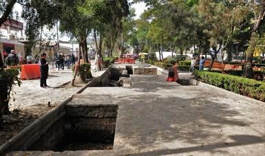 En Centro Histórico de Azcapotzalco hallan plataforma doméstica de élite de la antigua parcialidad de Mexicapan