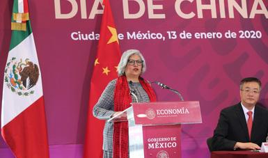 Palabras de la Secretaría de Economía, Graciela Márquez, en el Día de China, evento celebrado en Centro Internacional de Negocios (CINSE)