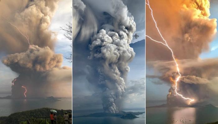 Volcán Taal en Filipinas hace erupción y evacúan a toda la población