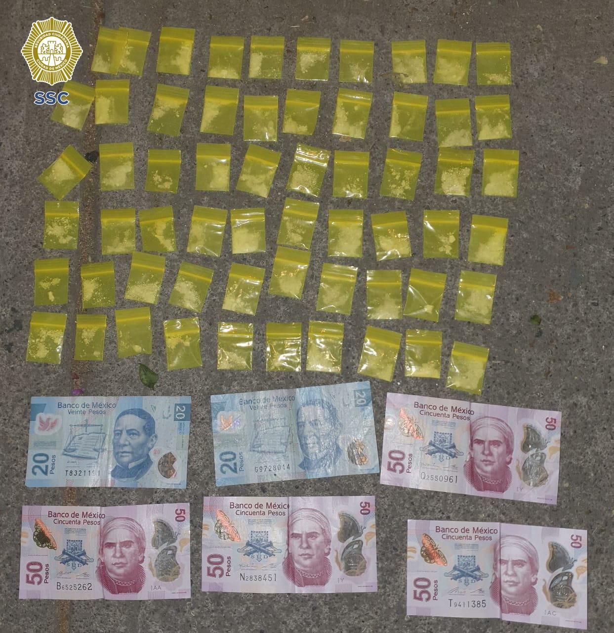 La SSC detuvo a un colombiano y un mexicano, posiblemente relacionados con un grupo delictivo dedicado a la comercialización de estupefacientes, en la alcaldía Cuauhtémoc