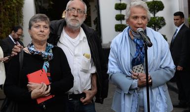 Recibe la secretaria Olga Sánchez Cordero al poeta Javier Sicilia para abordar temas de justicia