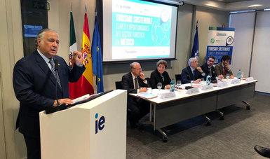 Miguel Torruco inició actividades en su primer día de gira de trabajo en Madrid