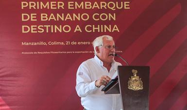 Inicia México exportación de plátano a China