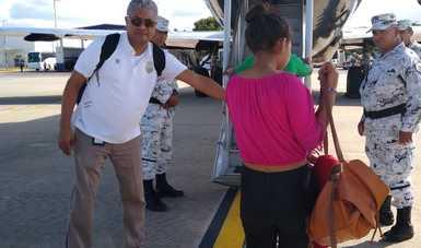 Retorna INM en un segundo vuelo vía aérea a 109 personas originarias de Honduras