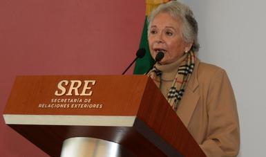 Palabras de la secretaria Olga Sánchez Cordero sobre el tema migratorio en la frontera sur del país.