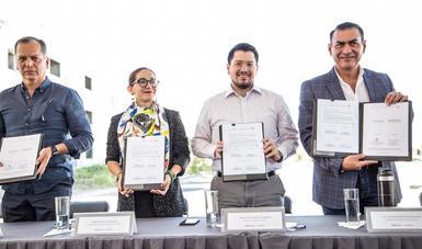 Sedatu, Infonavit y municipio de Tlajomulco firman convenio de colaboración para recuperar viviendas abandonadas