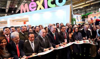Inaugura Miguel Torruco Marqués el pabellón de México en la Feria Internacional de Turismo de España