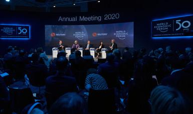Continúa intensa participación de la secretaria de Economía en el Foro Económico Mundial de Davos