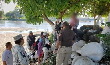 Más de 2 mil personas migrantes centroamericanas rescatadas en Chiapas y Tabasco
