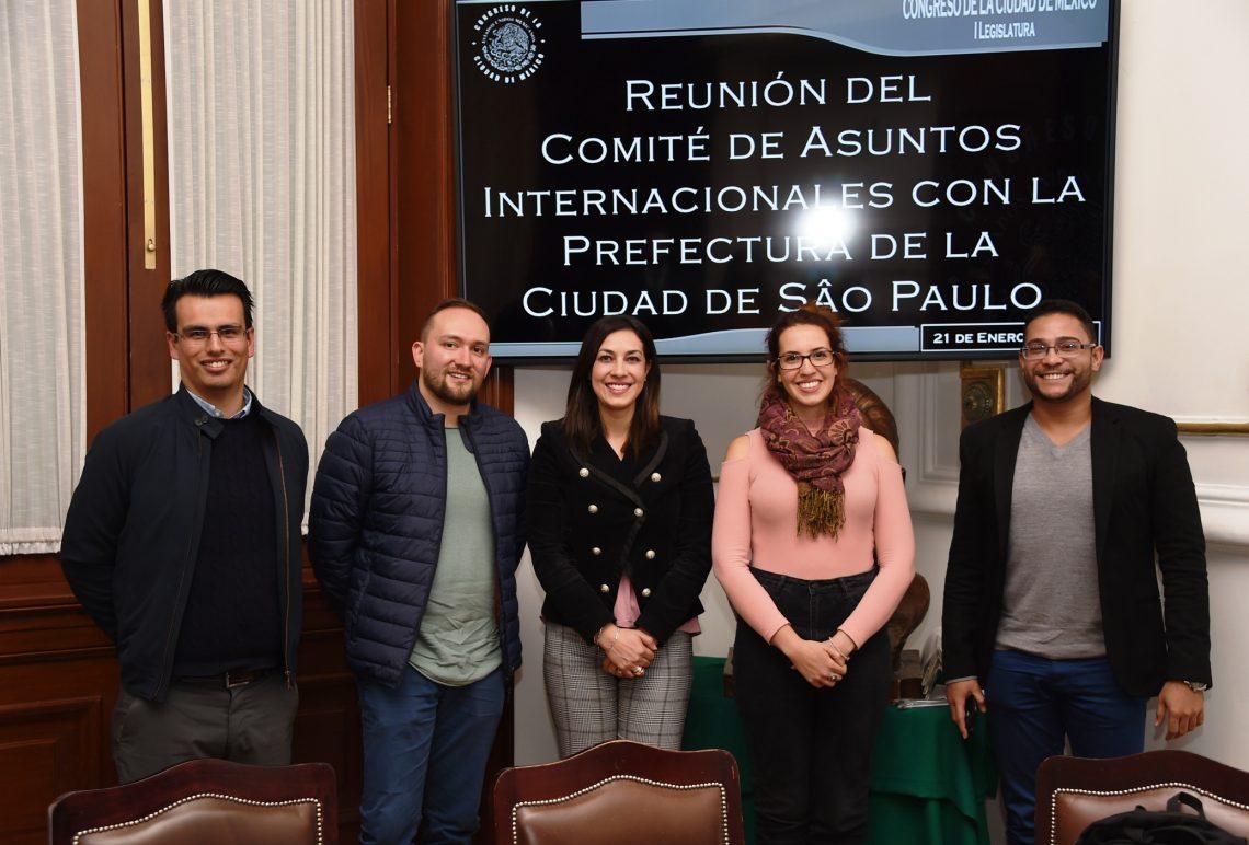El Comité de Asuntos Internacionales del Congreso de la CDMX se reúne con la Prefectura de Sao Paulo