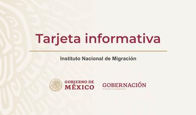 Tarjeta informativa del Instituto Nacional de Migración