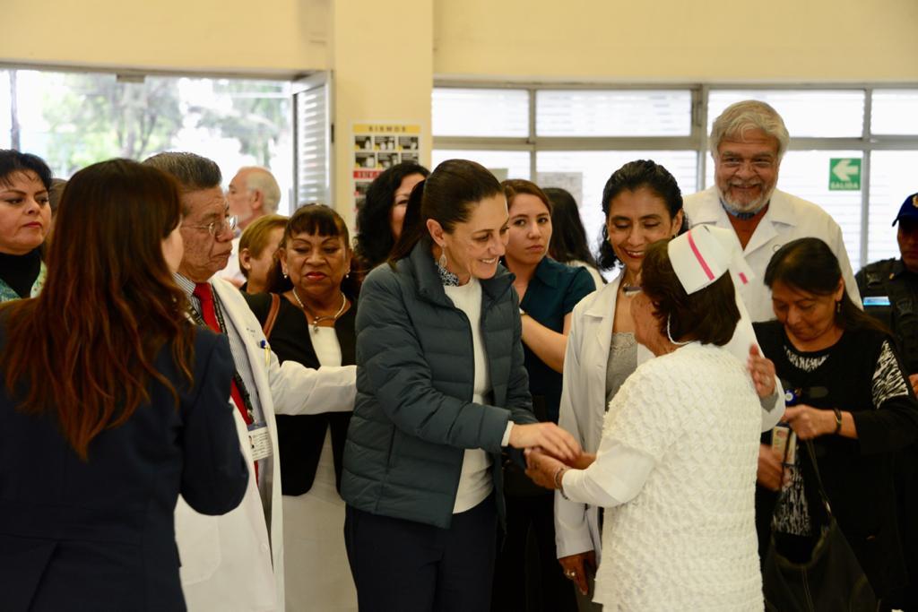 Visita Jefa de Gobierno Hospital General La Villa