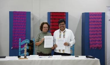 Firman convenio de colaboración Fonart e INPI